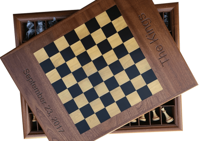 Chess combo with backgammon