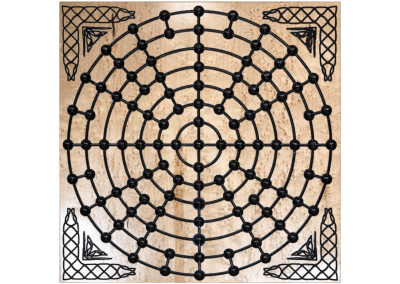 Custom wood fidchel game