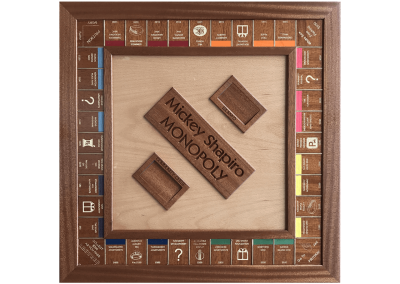 Custom wood Monopoly Board