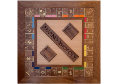 Custom wood Monopoly Board