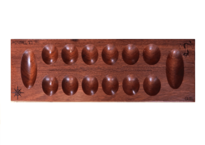 Custom wood mancala board in padauk