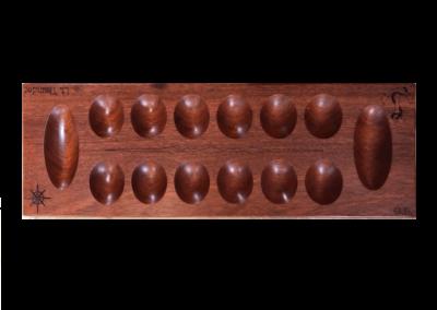Custom wood mancala board in padauk