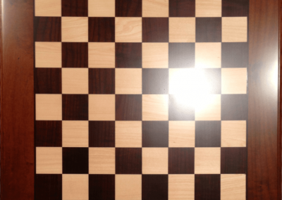 Custom wood chess board